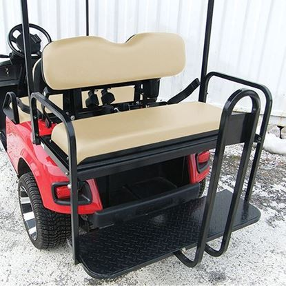 Picture of Rhino 700 Series Super Saver E-Z-Go TXT 1996+ Tan Cushions Steel Rear Flip Seat Kit